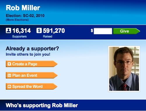 Rob Miller fundraising site
